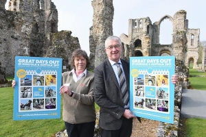 Julie Enefer, English Heritage and Martin Dupee, Chairman Norfolk & Suffolk Tourist Attractions.