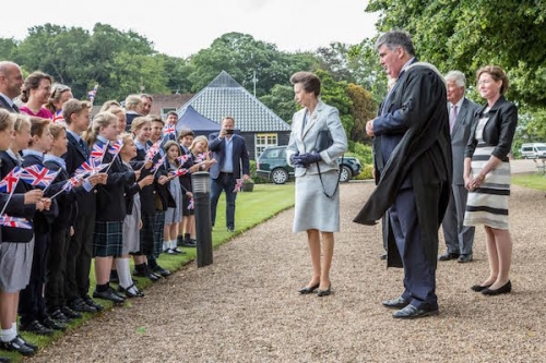 Princess Anne attends Gresham's Senior School Speech Day