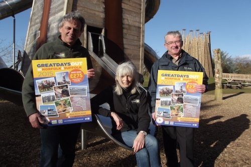 l to r: Bill and Deb Jordan Pensthorpe and Martin Dupee, Chairman Norfolk Tourist Attractions' Association