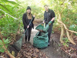 Fairhaven Gardener Lydia Sutton and Easton College student Lewis Goldspink