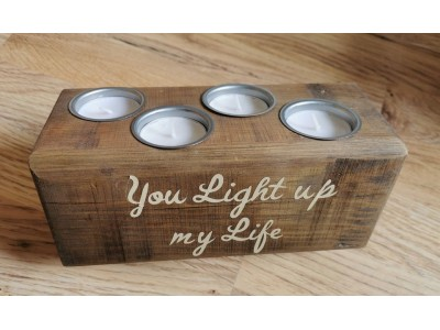 Handmade Reclaimed Candle Holder