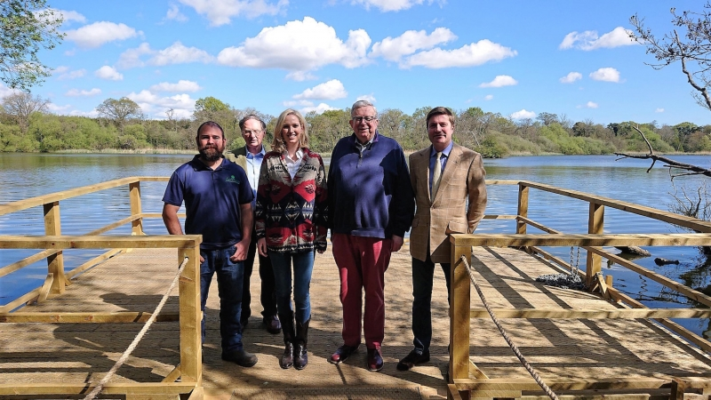 Keith Simpson MP Opens New Fairhaven Garden Floating Viewing Platform