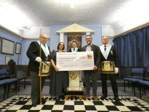EACH receives hundreds of pounds towards nook appeal thanks to Waveney freemasons