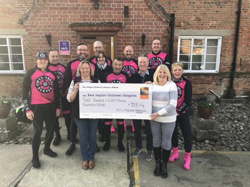 On your bake! Cyclists raise hundreds of pounds for the nook appeal
