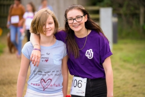 Georgie and sister Serena at last year's Walk of Smiles