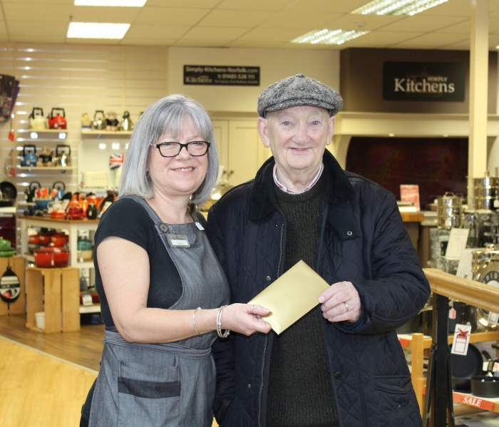 Customer wins £250 in independent store's anniversary golden giveaway